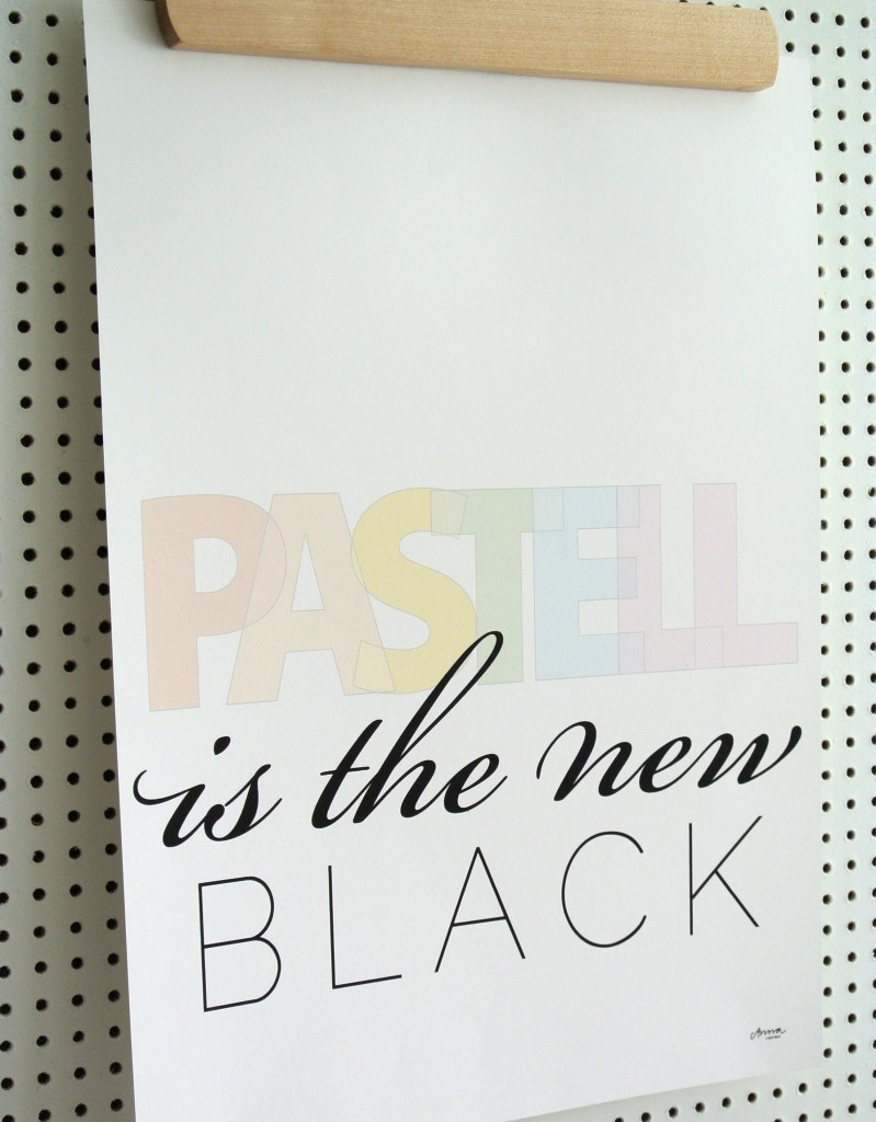 Pastell is the new black